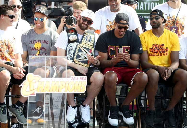 Channing Frye on a bench