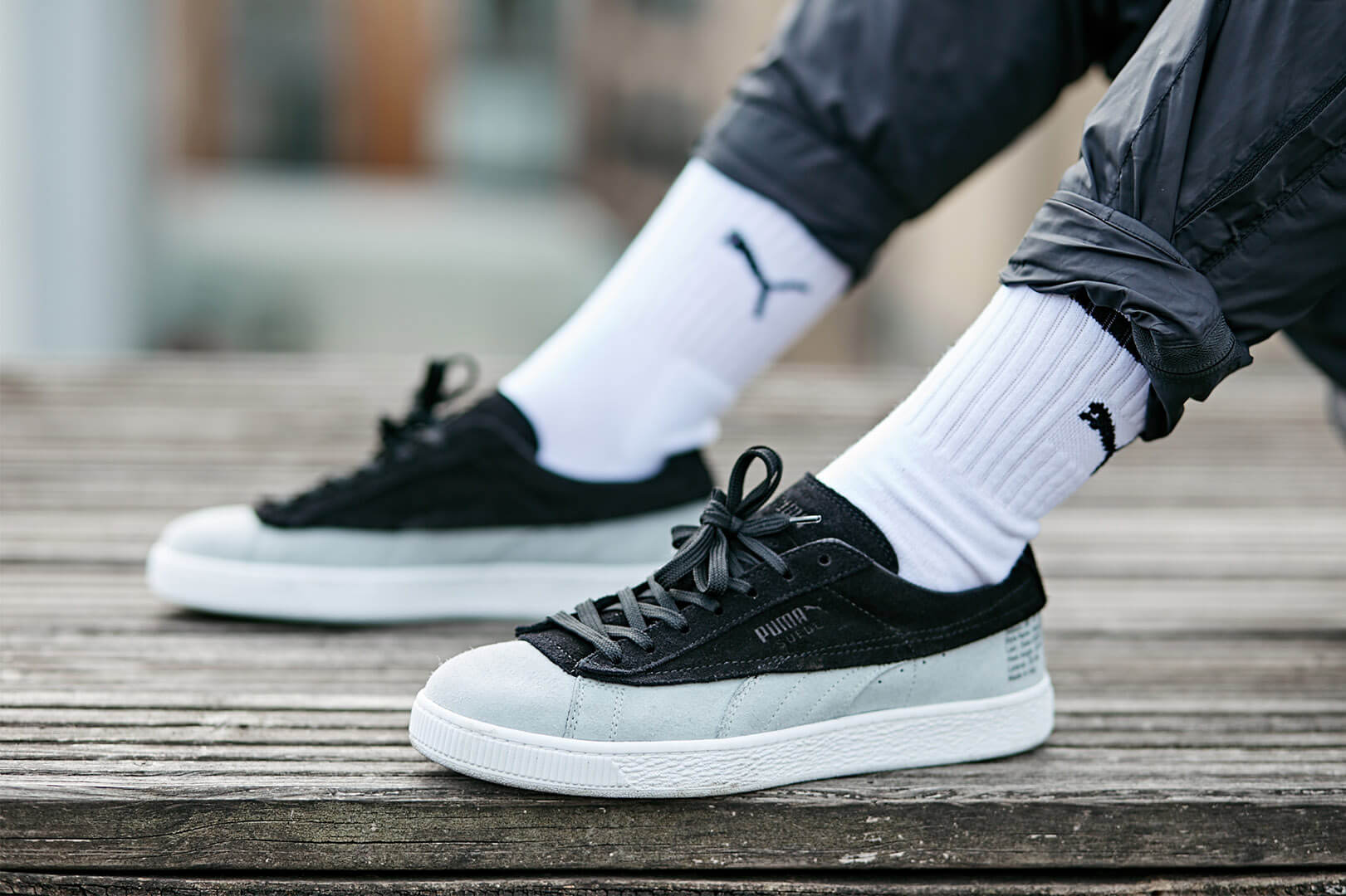 PUMA x STAMPD Suede Classic, on-foot shot