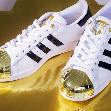 adidas sneakers gold toe white