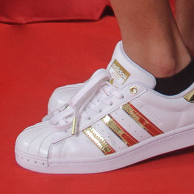 adidas sneakers white and gold